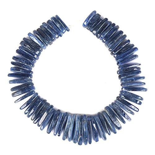 Justinstones Natural Gemstone Kyanite Long Slice Chips Sticks Loose Beads 8
