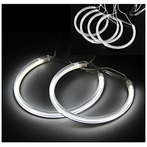 DLLL 4 x Angel Eyes 57 LED 3528 SMD Halo Rings Light Lamp White 6W for BMW E46 Coupe 2D (04+) (2d Coupe Led)