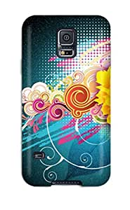 Hard Plastic Galaxy S5 Case Back Cover,hot Flower Vector Designs 1080p Case At Perfect Diy