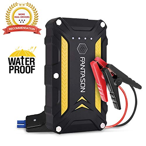 JUMP STARTER, FANTASON 1200A Portable Waterproof Car Jump Starter (Up to 6.0L Gas or 3.0L Diesel Engine) 12V Auto Battery Booster 12000mAh Lithium Battery Dual QC 3.0 USB Type C Charger Port