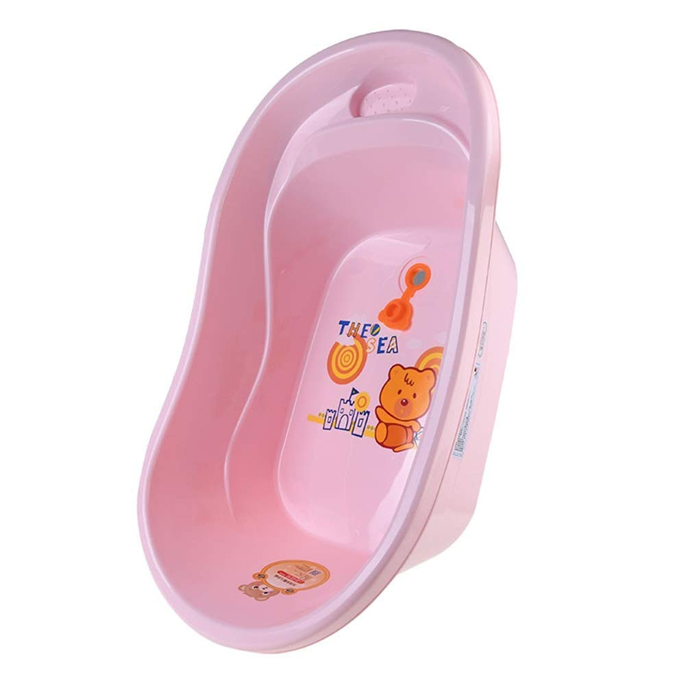 Pink Portable PET Bathtub, Plastic Portable Strong WEAR-Resistant and Bacterial Isolation Suitable for Cats and Dogs with Two colors (71  40  21CM)