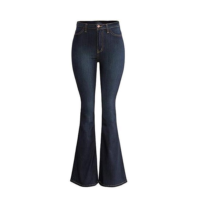 Comradesn Pantalones Vaqueros de Cintura Alta para Mujer ...