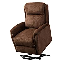 BONZY Lift Chair Recliner for Elderly Power Help Standing with Remote Control Soft and Warm Fabric Gentle Motor