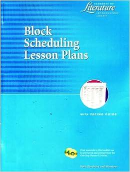Elements of Literature Block Scheduling Lesson Plans