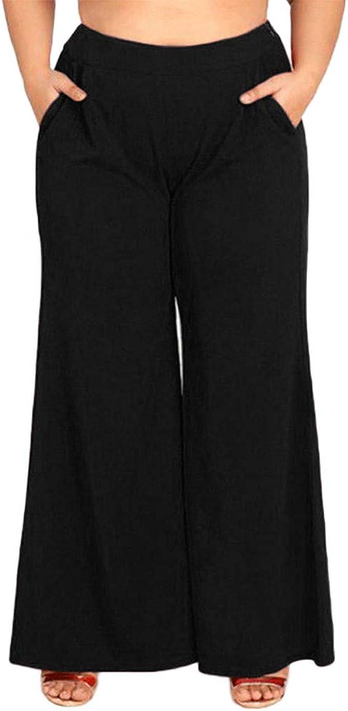 Pantalones Mujer Chandal Tallas Grandes Mujeres Sueltas Pierna ...