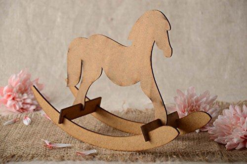Unusual carved handmade wooden MDF blank toy rocking horse DIY art supply