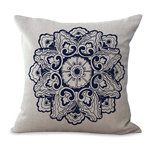 bohemian mandala yoga meditation cushion cover replacement patio pillow cases
