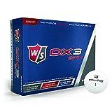 2016 Wilson DX3 Soft Urethane Tour Spin Performance Golf Balls - Dozen White