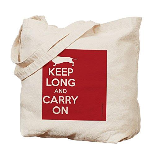 CafePress diseño de Keep _ Calm _ rectangular–Natural gamuza de bolsa de lona bolsa, bolsa de la compra