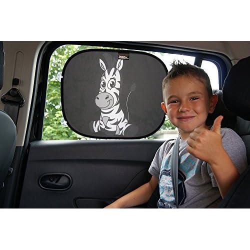 Pare-soleil pour voiture visière pare-soleil pour votre bébé et enfants - Taille universelle 44 x 36 cm pour les vitres latérales, protection UV et protection thermique installation simple new