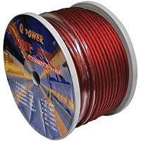 Q Power 8GARED 250-Feet 8-Gauge, Ultra Flexible Super Flex Power/Ground Wire for Amp Installation (Red)