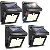 28 LEDs Solar Lights Outdoor, Motion Sensor Wireless Waterproof Security Light, Solar Lights for Garden, Patio, Yard, Driveway, Garage, Pathway by Luposwiten (4 Pack)