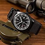 Mens Military Waterproof Watch Men's, Army Analogue Wrist Watches for Men, Field Tactical Camper Work Casual Date Day…