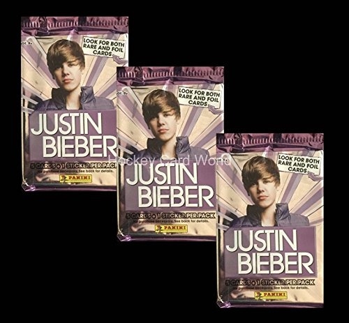 2010 Panini Justin Bieber Trading Cards Factory Sealed Pack x3 Lot. ()