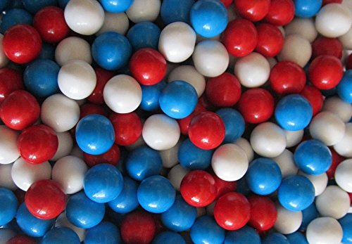 Sweetworks Red White & Blue Sixlets 1 lb Bag