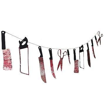 Cuchillos de sangre Halloween, esparcimiento de horror ...