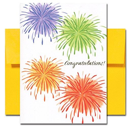 Congratulations Cards: Light Up the Sky - box of 10 cards & envelopes