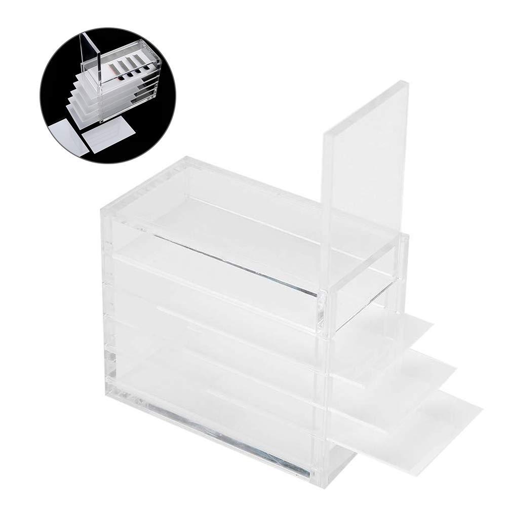 Amazon Com Eyelash Storage Box 5 Layers Plastic Eyelash Storage Box Makeup Organizer Grafting Eyelash Glue Palette Holder Also Suitable For Nail Tips Art Sewing Beauty