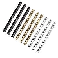 CUTICATE Set of 9pcs Women 19cm Purse Frame Bar, Edge Wallet Strip Clasp, Metal Openable Making Parts