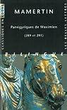 Panégyriques de Maximien (289 et 291) par Mamertin