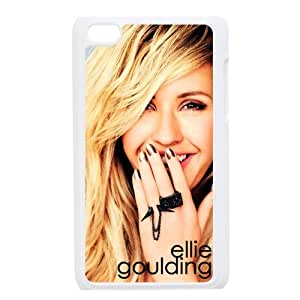 Print Hot Singer Ellie Goulding Sexy Woman Pictures Design Hard Plastic Case PC Shell for iPod touch 4 TPU Case-2