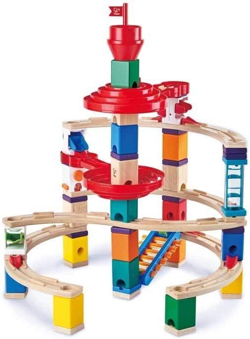 Hape Marble Run Blocks Super Spirals Building Blocks Set