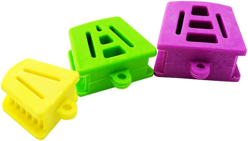 Denshine 3 PCS / 1 Juego de Silicona de Boca Prop Bite Bloques Púrpura Verde Amarillo/ 3PCS/1set Silicone Latex Mouth Prop Bite Blocks Purple Green Yellow