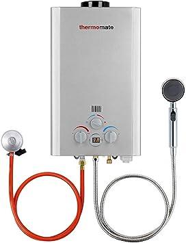 Calentadores de Gas, thermomate BE211S 8 Litros Instantáneo Calentador de Agua a Gas GLP, uso para Caravana, Camping