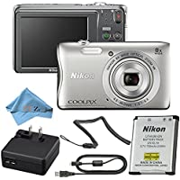 Nikon COOLPIX Silver S3700 20.1 MP Point & Shoot Digital Camera (Frustration Free Packaging) (Cloth Only)