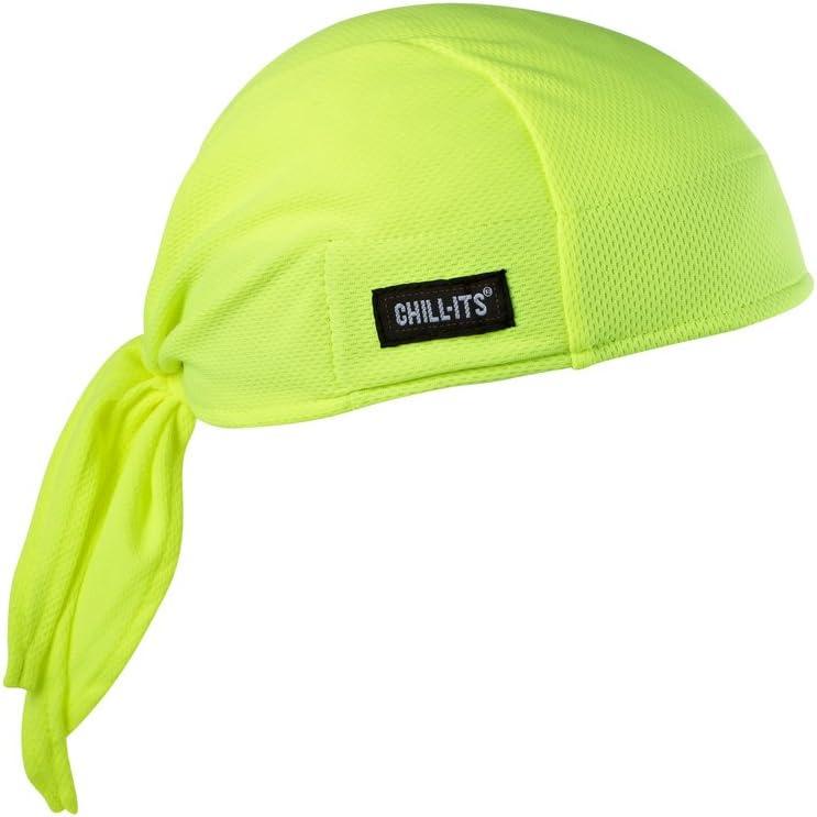 Ergodyne Chill-Its 6615 Absorptive Moisture-Wicking Dew Rag, Lime