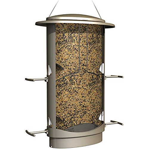 (Jur_Global Squirrel-Proof Feeder, 4.2 Pound Seed Capacity, 4 Feeding Ports, X-1)