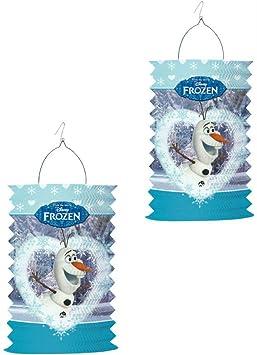 Frozen Olaf Lampionset für Kinder Martin elektronischer Laternen-Stab 49cm St
