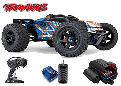 (Traxxas 1/10 Scale E-Revo Brushless Racing Monster Truck, Orange)