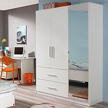 Kleiderschrank Hochglanz Kinderzimmer Jugendzimmer Drehtürenschrank Schrank Weiß