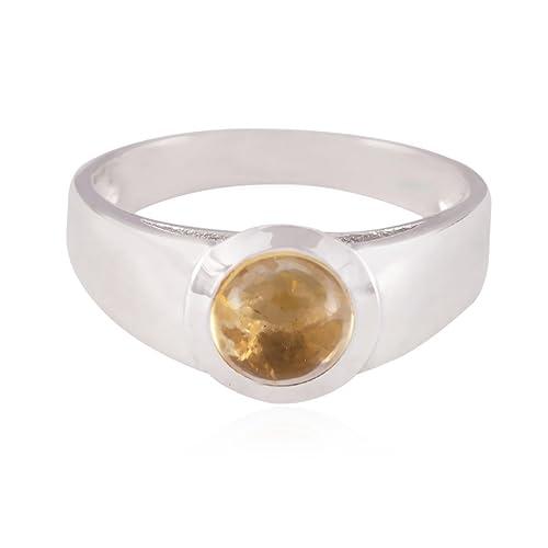 consegna veloce scegli genuino il più votato genuino buone pietre preziose rotondo anello citrino cabochon - 925 ...