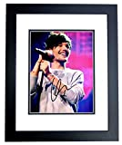Louis Tomlinson Signed - Autographed 1D One Direction Concert 8x10 inch Photo BLACK CUSTOM FRAME - Guaranteed to pass PSA or JSA
