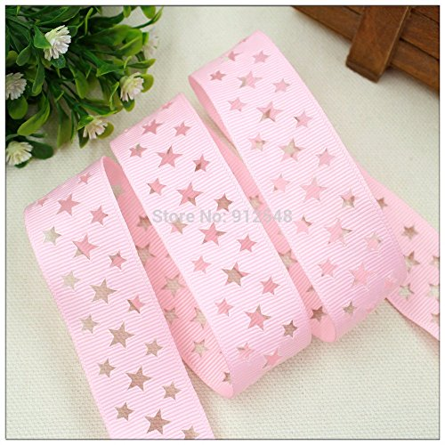 25mm 10 yards hollow dot ribbon, DIY clothing accessories, handmade crafts materials, gift (pink)
