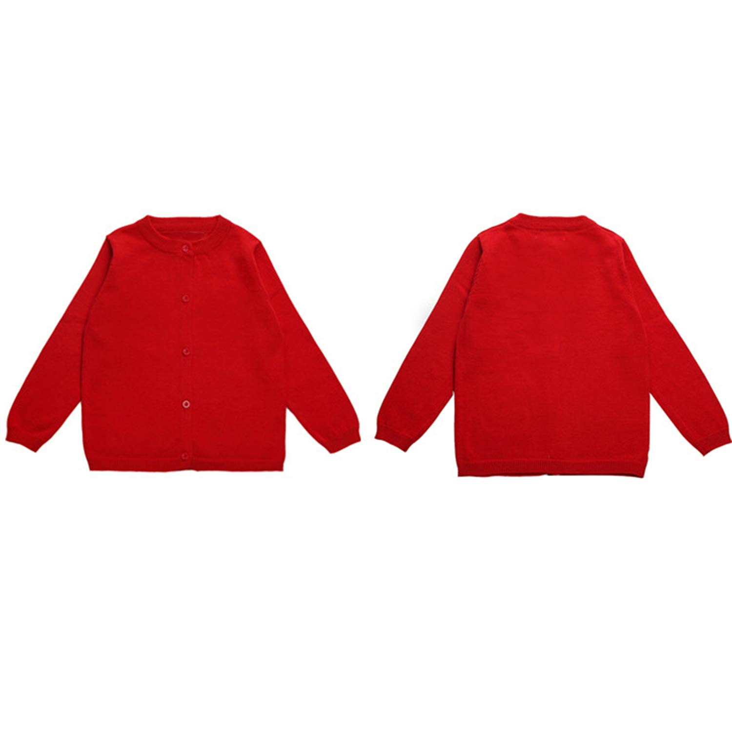 Evelin LEE Baby Boys Girls Button-Down Cardigan Solid Knitted Sweater Outwear