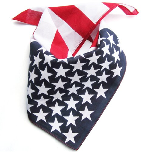 TOOGOO amerikanischen Stars and Stripes USA Flagge Bandana Haarband aus 100/% Top-Qualitaet Stoff R