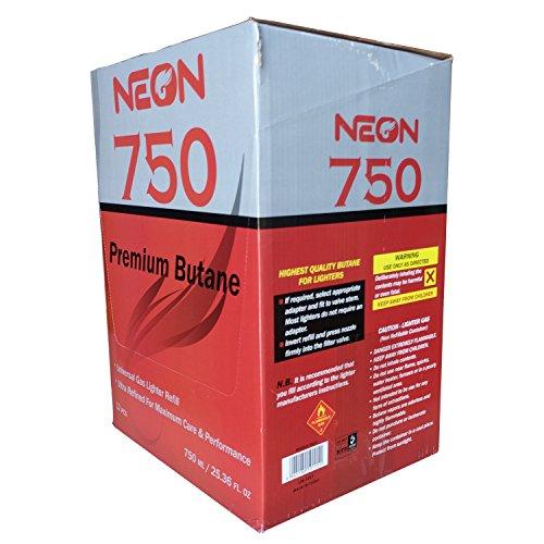 Neon Butane - 11x Ultra Refined 750ml Universal Gas Lighter Refill - Near Zero Impurity - 48 Cans by Neon Butane (Image #1)