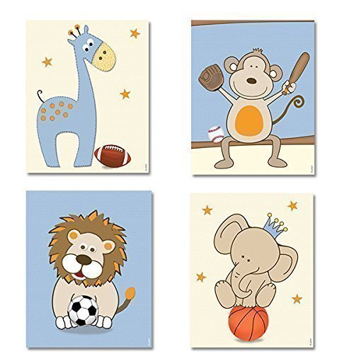 Sports Nursery Decor Boys Room Wall Art Posters For Baby Boy Nursery Football Basketball