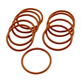 10 Pcs 29mm OD 2mm Thickness Red Silicone O Ring Oil Seals