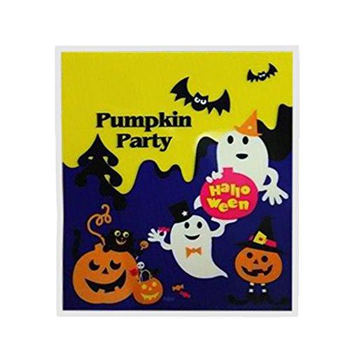 Hatop- 100PCS HalloweenCandyBagsforKids PumpkinTrickOrTreatBag Witch Ghost Snack PartyFavorBags Home Decor Storage Bag (Best Halloween Trick Or Treat Horror Mix)