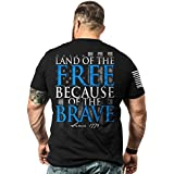 Nine Line Men's T-Shirt - Because Of The Brave (Large)