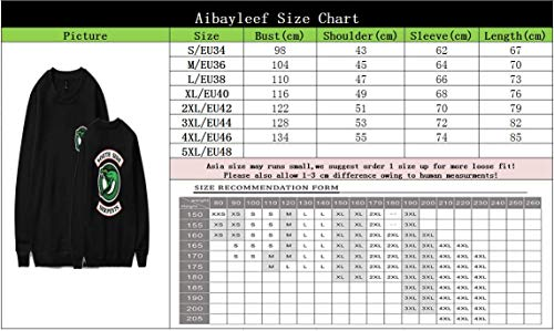 South Riverdale Felpa Jumper Serpent Hip Color Pull Hop Top Sweat Baggy Pullover Chemise Side 01 Camicetta BdAdxqTW