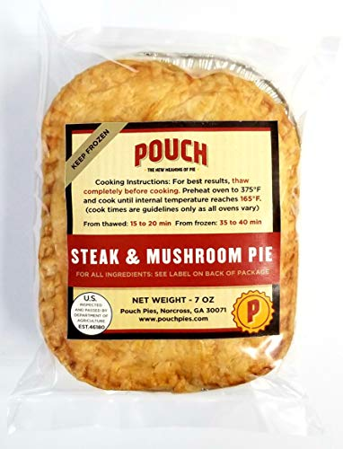 All Natural Savory Meat Pies, 12 Pack, 7-Ounce (Steak & Mushroom)