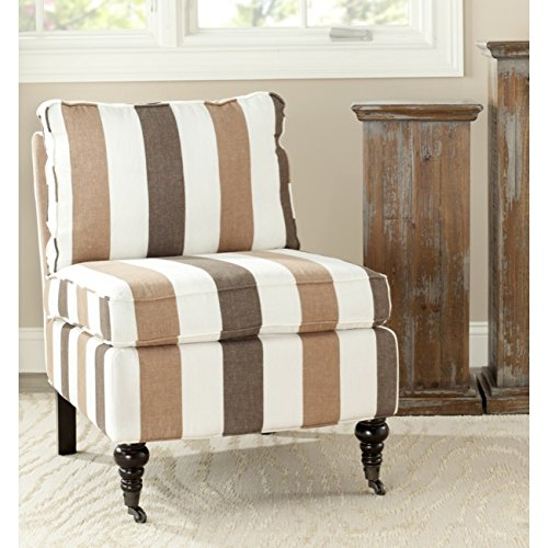 Safavieh Randy Armless Club Chair, Multi Color Stripe (Armless Club Chair)