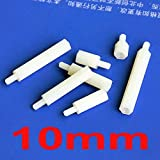 Nut & Bolt - (1000 pcs/lot) 10mm/0.39'' Nylon M3 Threaded Hex Male-Female Standoff Spacer, Hexagonal.