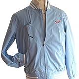 Suixtil Men's Barcelona Summer Racer Bomber Jacket, Argentine Blue, XXL