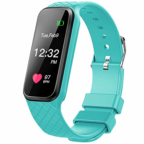 Fitness Tracker with heart rate monitor Color Screen Smart Slim Wristband Pedometer Smart Bracelet Sleep Monitor - Waterproof Activity Tracker Amart Watch for Android & IOS (Green)